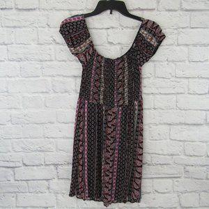 Rue 21 Womens Smocked Dress  Knee Length  Size Med